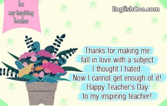 contoh kartu ucapan selamat hari guru dalam bahasa inggris happy teachers day dan terimakasih
