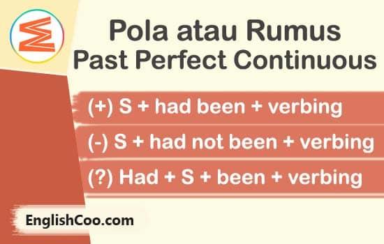 rumus past perfect continuous tense