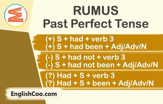 Rumus Past Perfect Tense